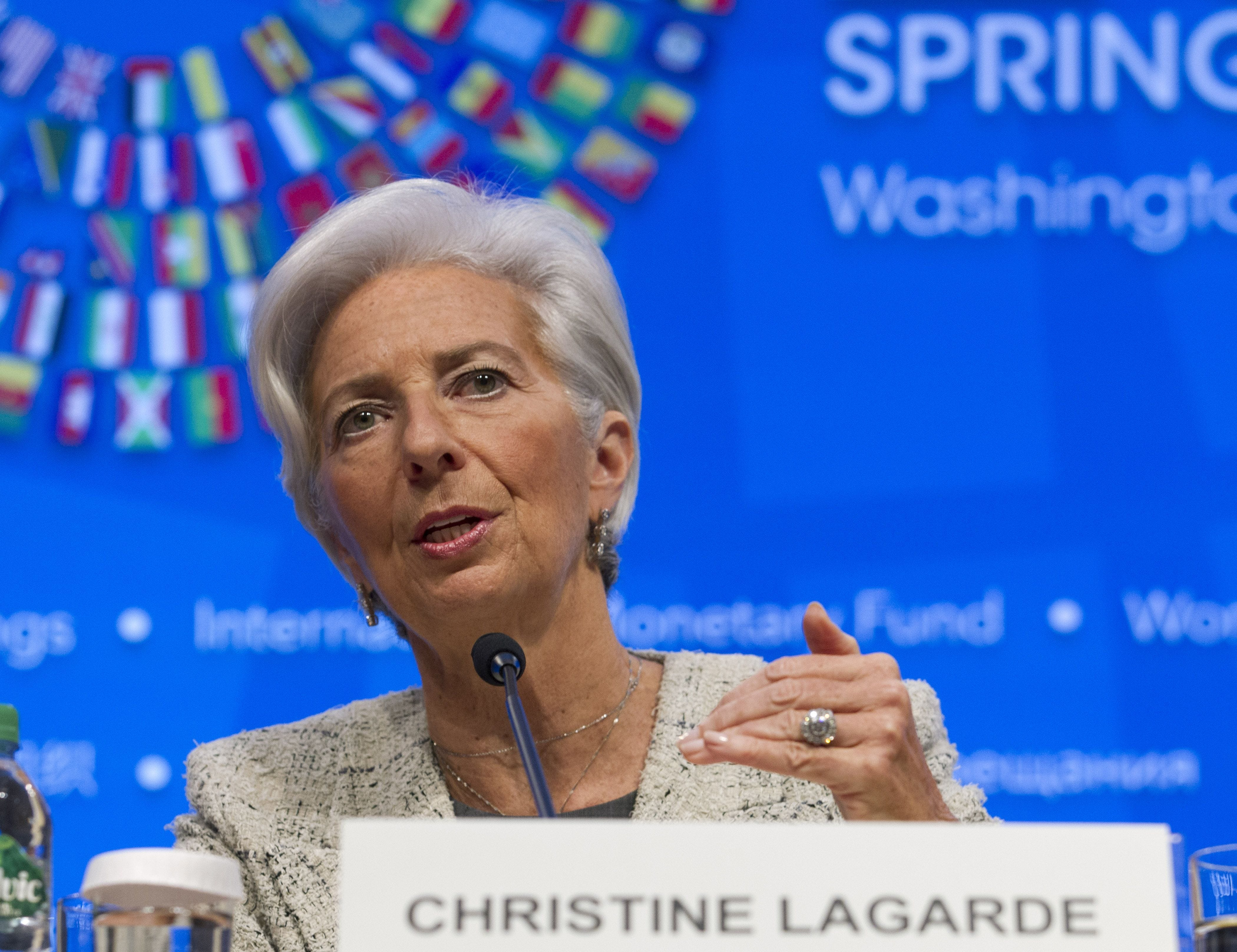 IMF's Lagarde: 'concerned' about trade, urges 'equitable' growth