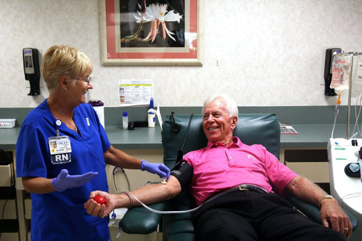 Can you top this? He's donated blood 438 times