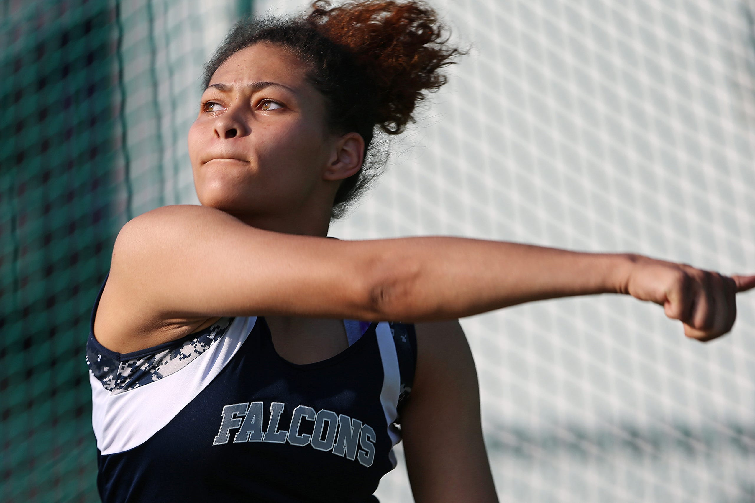 Girls track and field regionals at Ben Davis High School