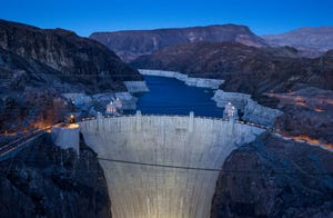 The water level of Lake Mead has declined dramatically over the past two decades.