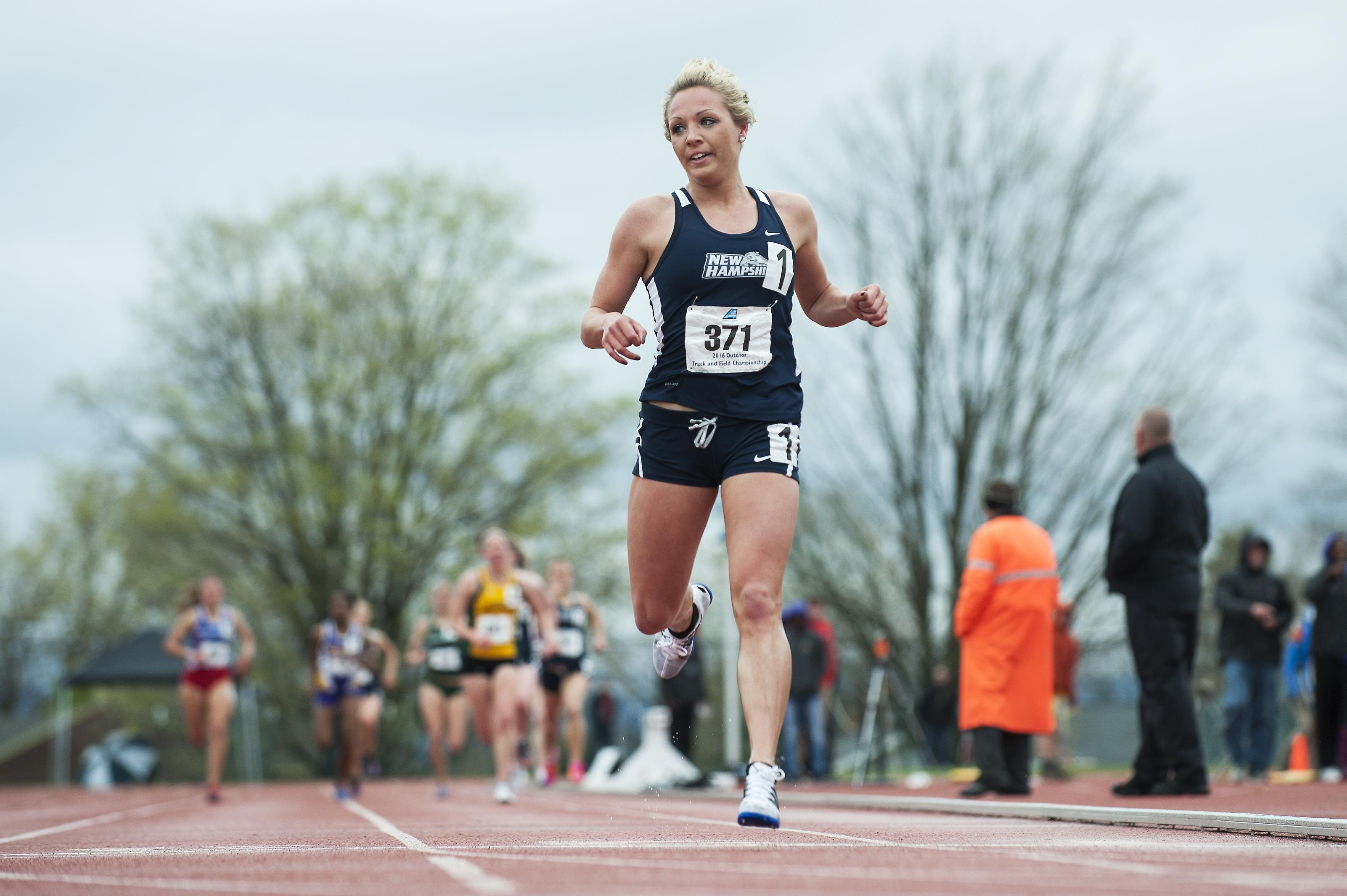 Vermont native and University of New Hampshire redshirt sophomore Elle Purrier raced to third in the 3,000-meter steeplechase at the NCAA track and field championships Saturday.