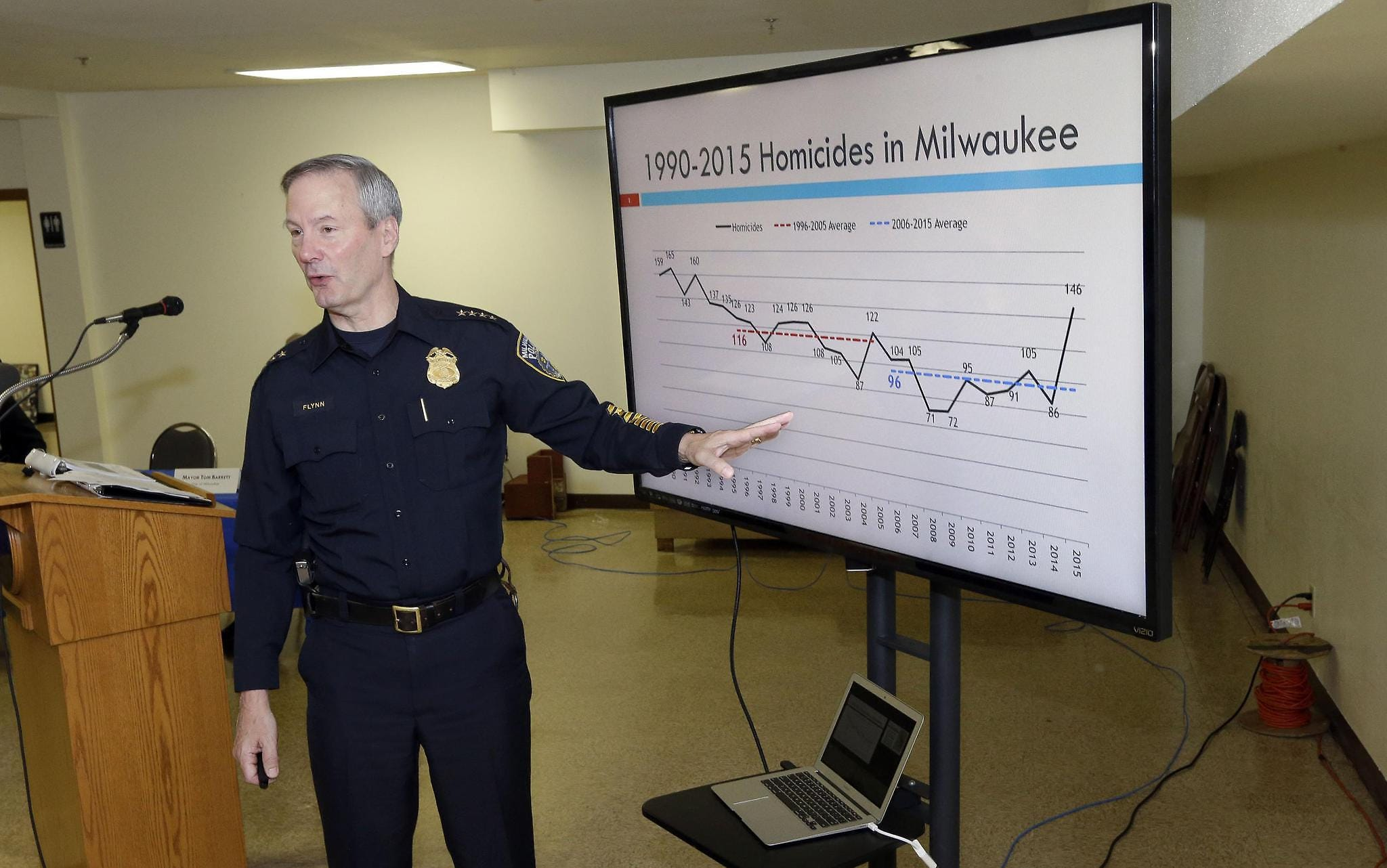 Former Police Chief Edward Flynn in 2016 dismissed allegations of racially biased policing within the department, saying he used data to drive his decisions.