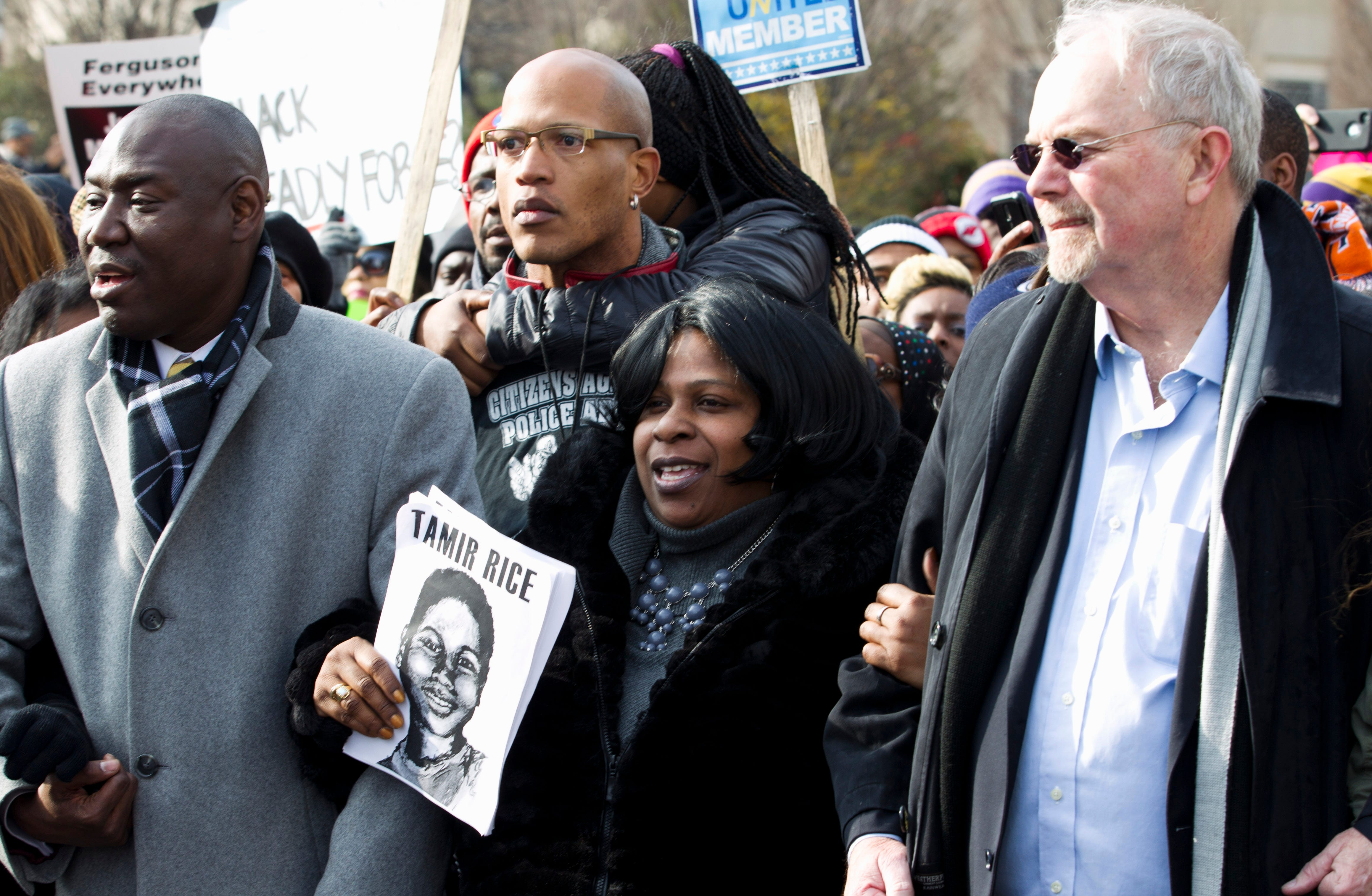 Samaria Rice, the mother of Tamir Rice, marches toward Capitol Hill in Washington in 2014.