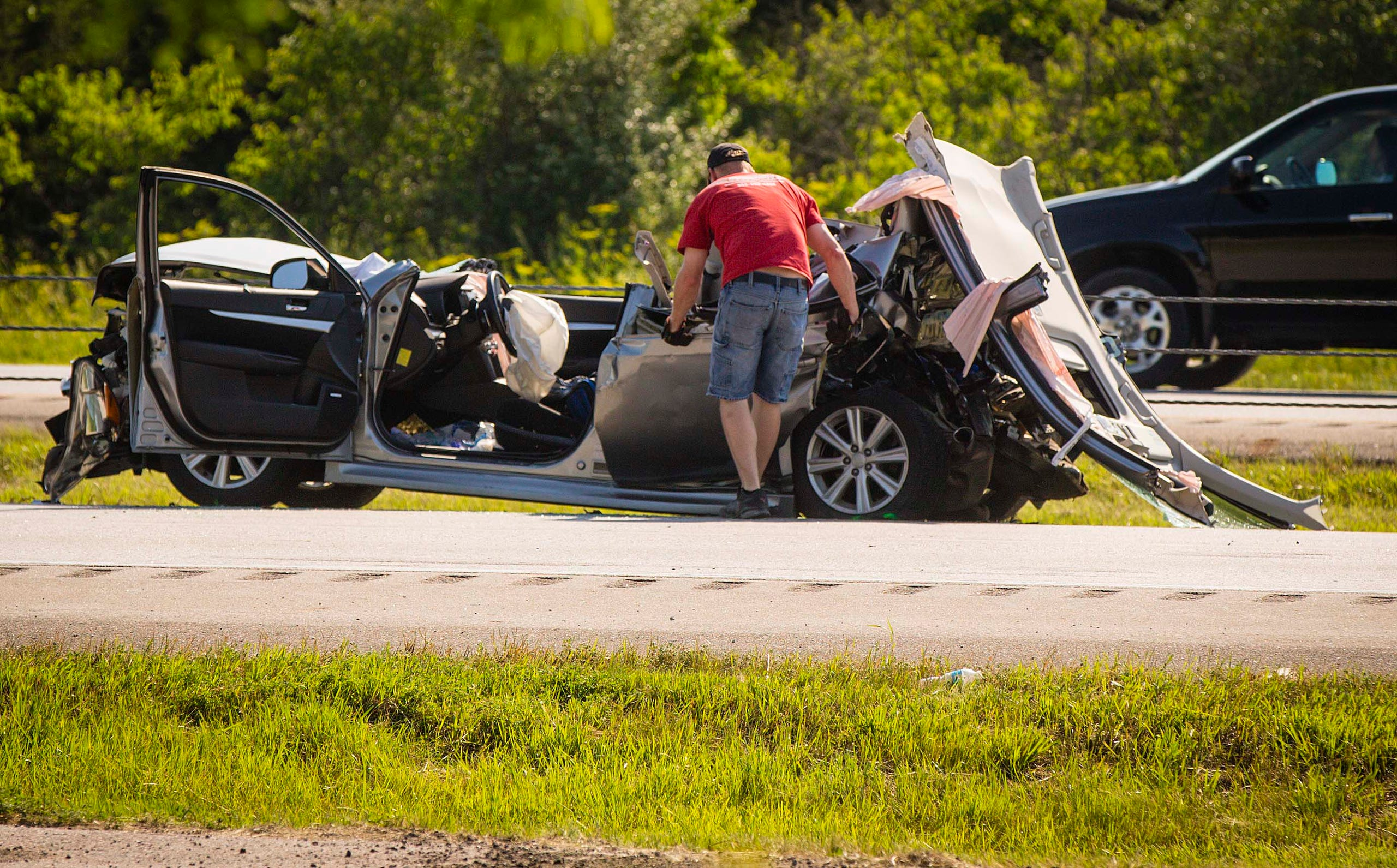 8 photos: Fatal accident closes I-35 in Ankeny