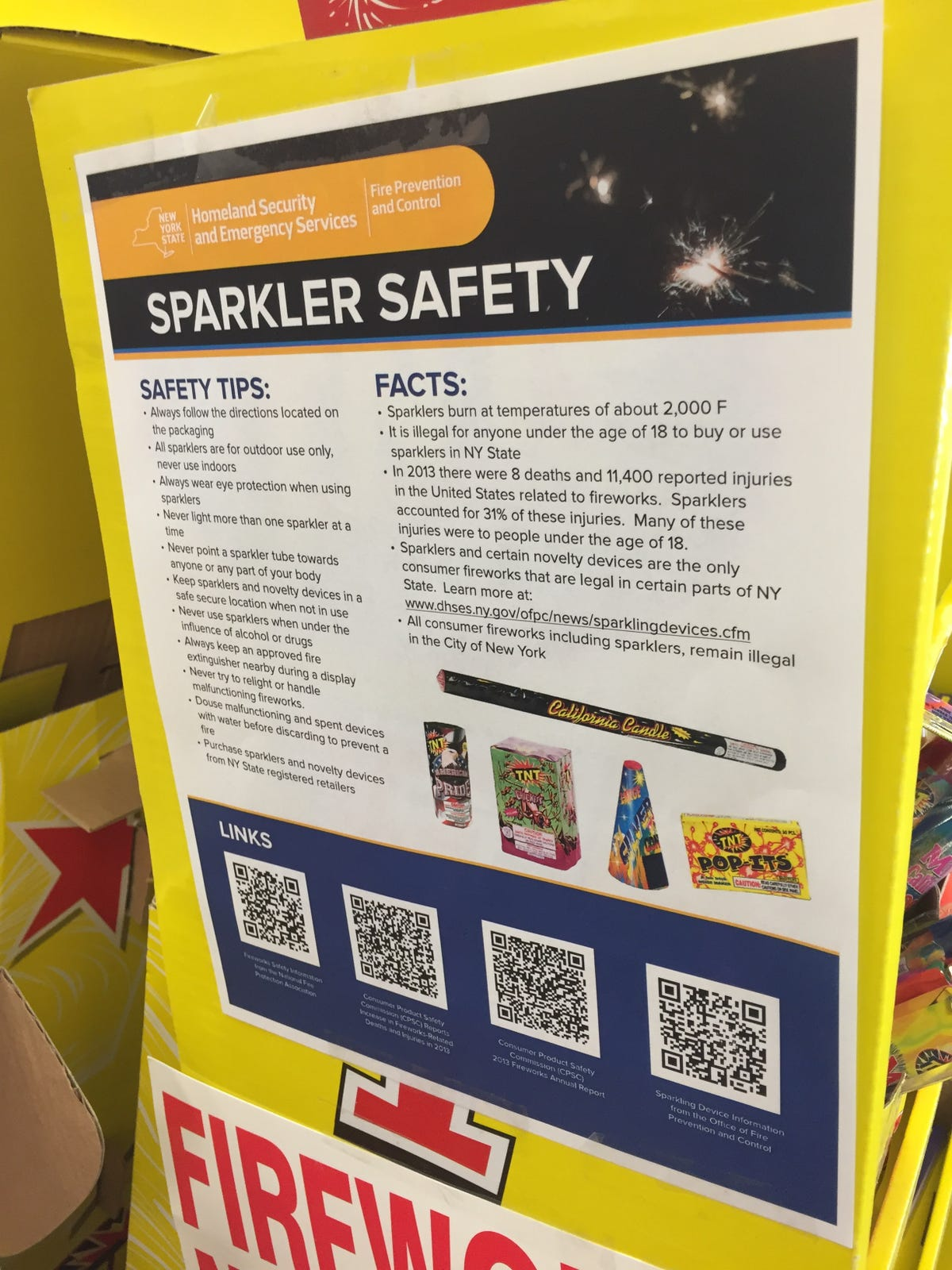 Where you can buy fireworks legally in NY