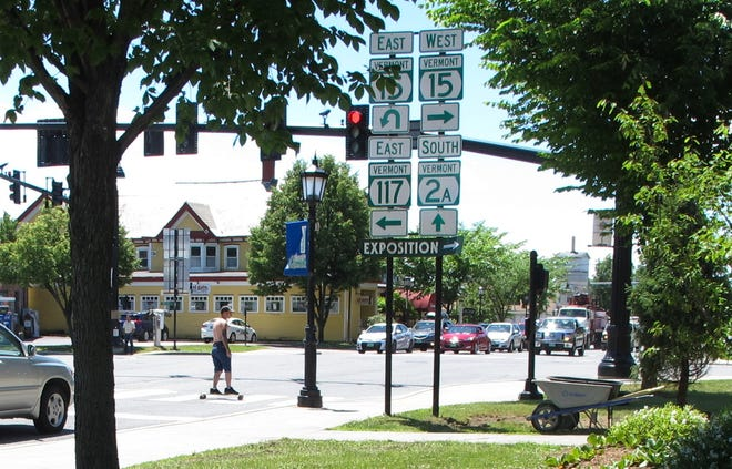 Five Corners intersection in Essex Junction.