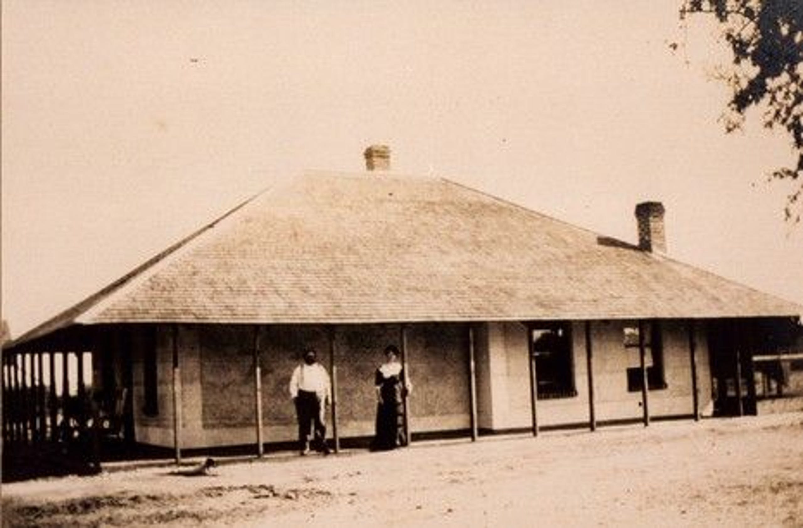 The boarding house as it was in the 1800s.