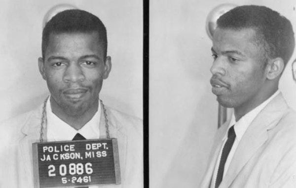 """In 1961, Mississippi arrested wave after wave of Freedom Riders that dared to enter an """"all-white"""" area of the bus station, including future Congressman John Lewis. They were arrested, convicted and sent to Mississippi's most notorious prison, the State Penitentiary at Parchman. Lewis was finally freed on July 7, 1961."""