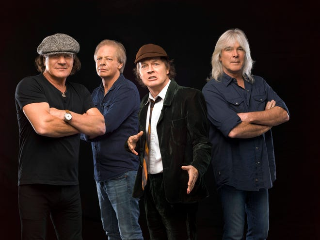Cliff Williams (far right) with AC/DC in 2014