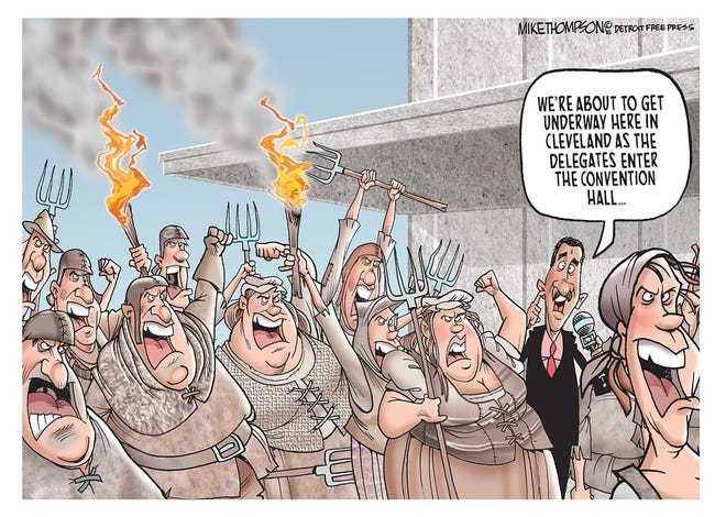 The ugliness of the Republican Convention.