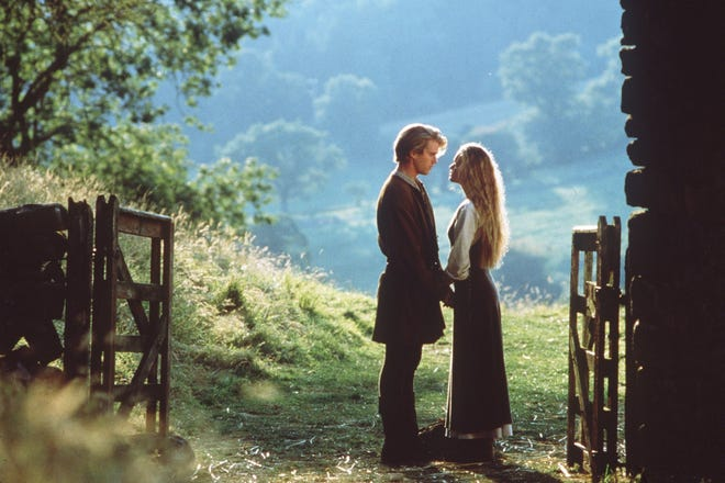 "Cary Elwes (left, with Robin Wright) plays the farmboy turned pirate in the 1987 movie ""The Princess Bride."""