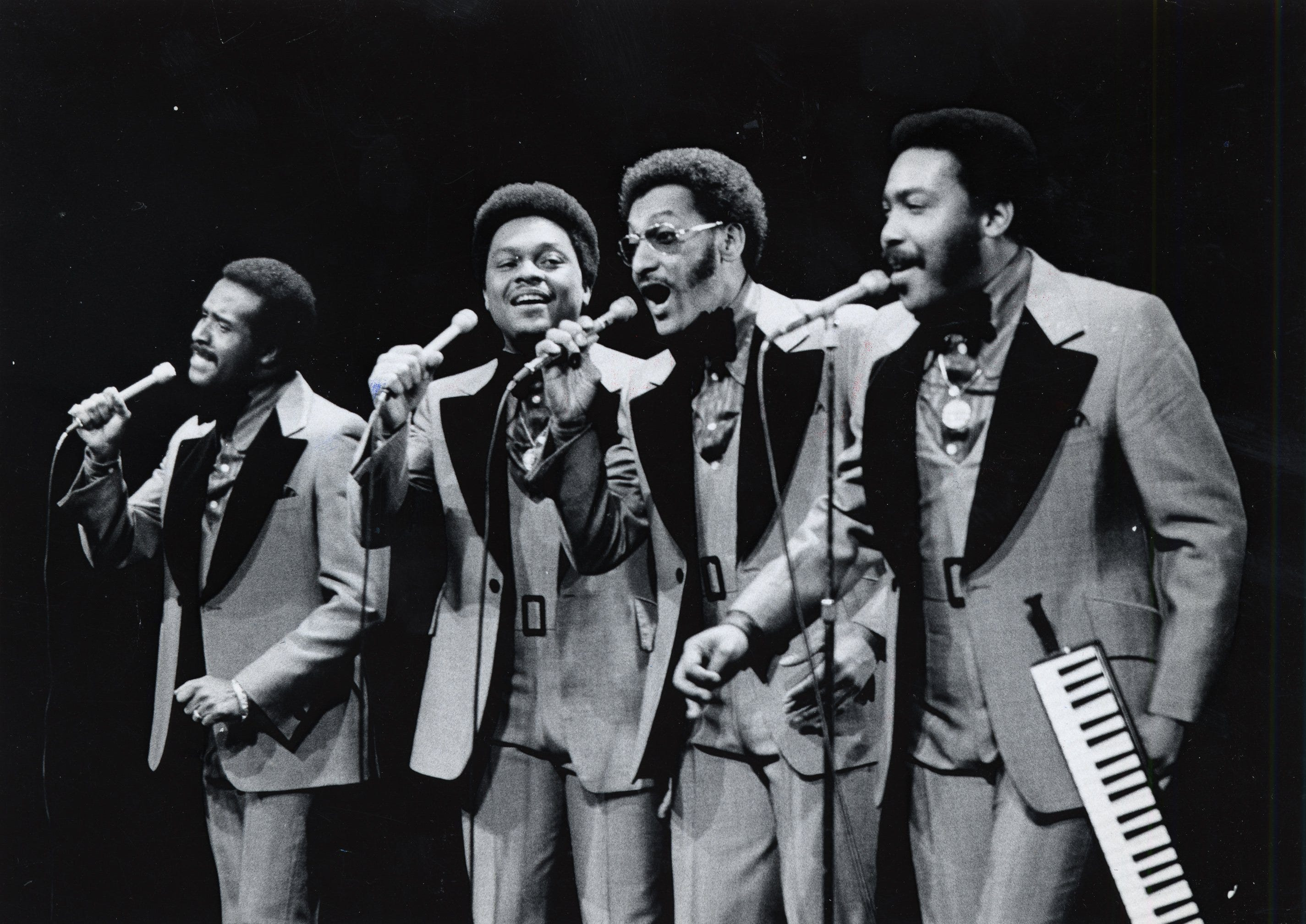 The Four Tops performing in Detroit on Feb. 13, 1973.