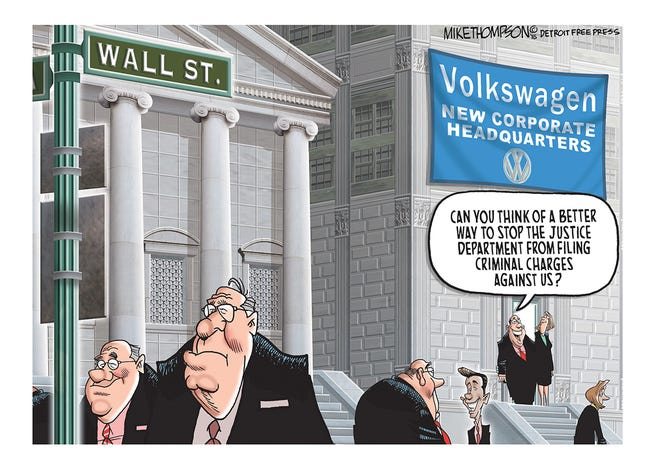The Department of Justice investigation into Volkswagen