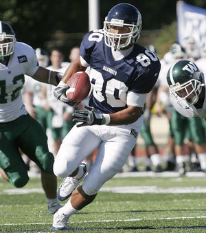 Miles Austin, shown here during a 2005 game against Wagner, will be inducted into the Monmouth University Athletics Hall of Fame on Dec. 9, along with Baltimore Orioles pitcher Brad Brach