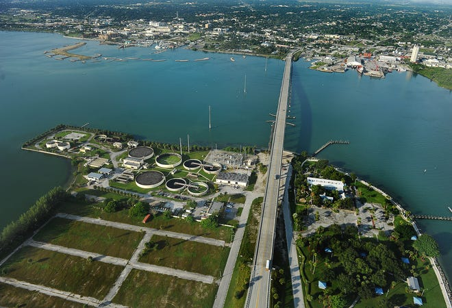 The wastewater treatment plant in Fort Pierce is on the southeast side of the South Bridge.