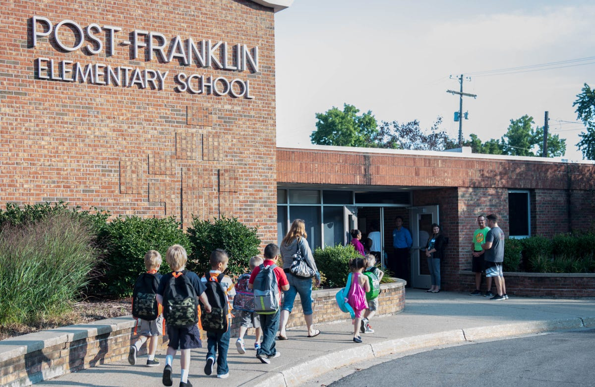 A kindergartener's first day at Post-Franklin