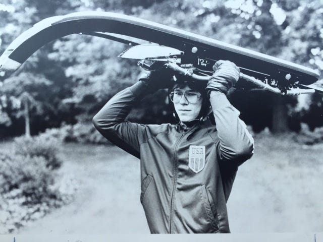Frank Masley during his early days on the U.S. luge team.