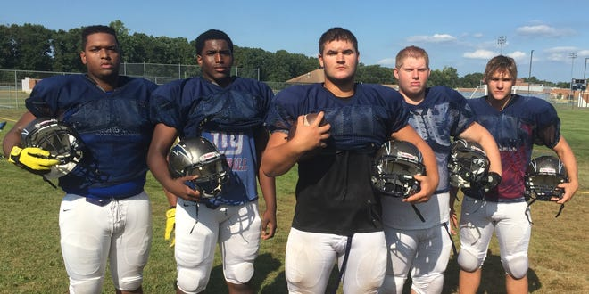 Dexter Miller, Derryk Sellers, Matt Ringstaff, Trevor Perry and Jake Kidwell know they need to play as one unit for Timber Creek to be successful.