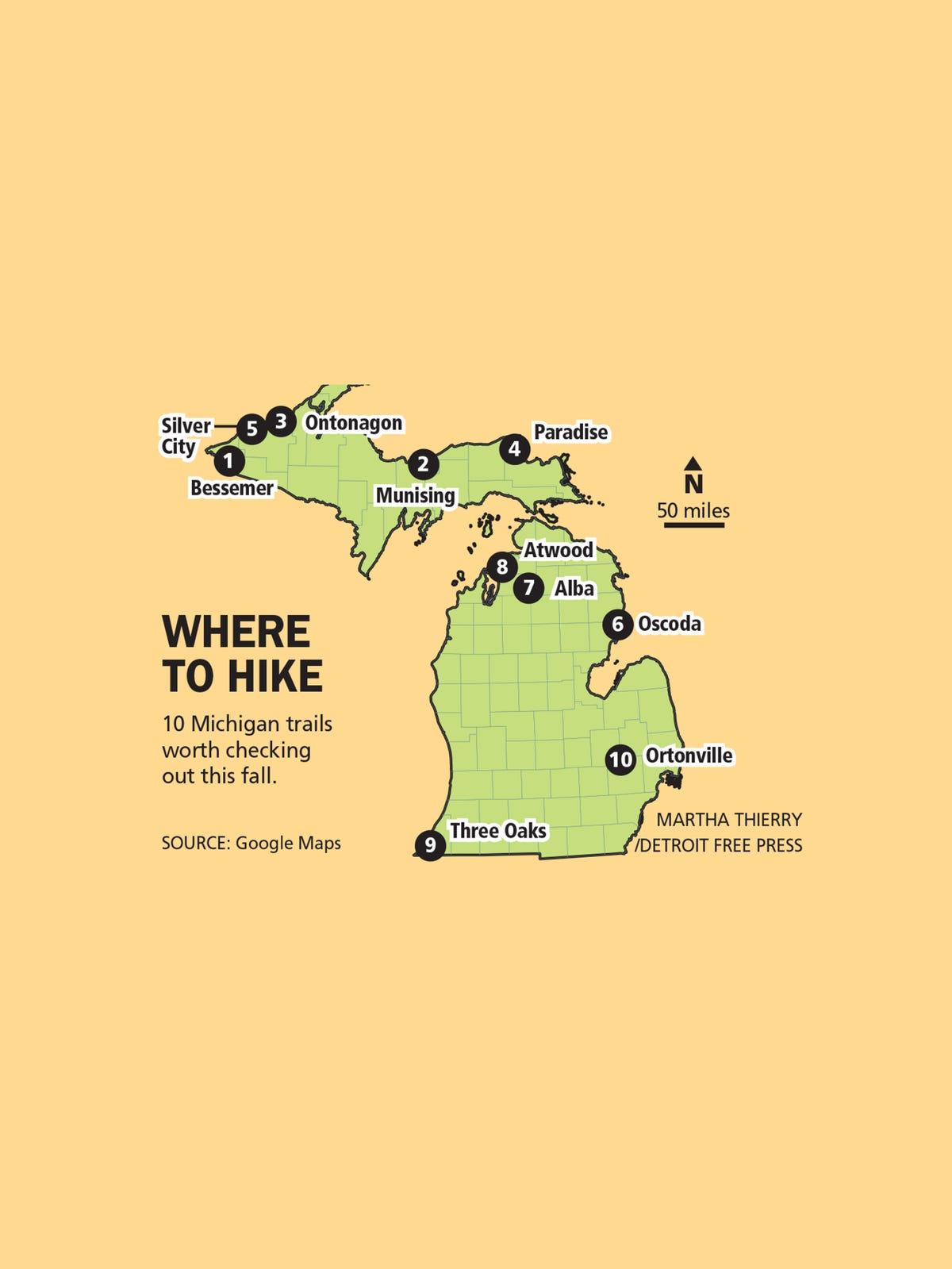 10 great fall foliage hikes in Michigan