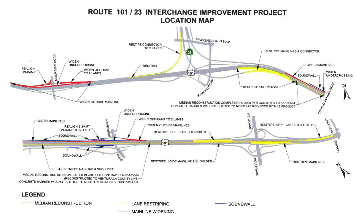 Highway 101/23 interchange project completed