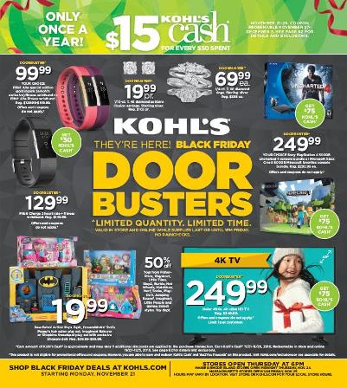 060f4c66bc0 Kohl's Black Friday ad: lots of TVs and toys