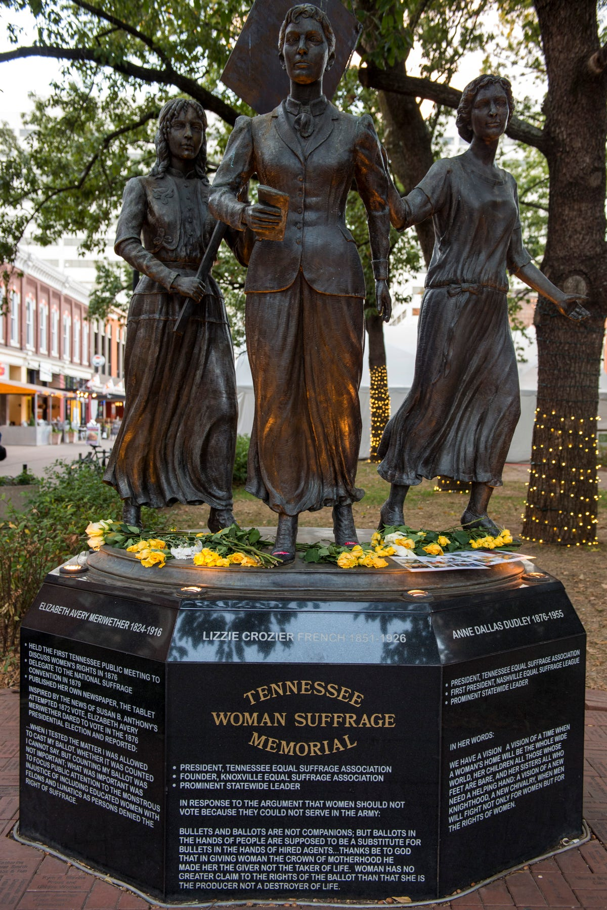 Midterm Elections: Suffragettes statue covered in 'I voted