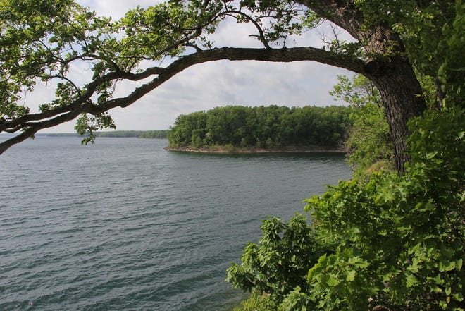 A view of Stockton Lake, northwest of Springfield.