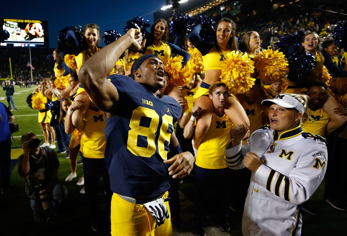 the best attitude 91eb4 d1f18 Michigan football's Jehu Chesson fully recovered, happy to ...