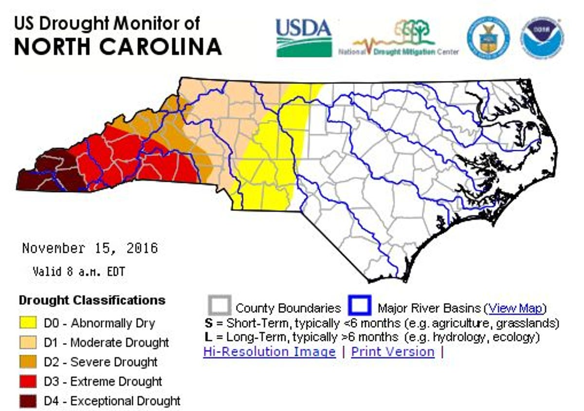 Air quality Code Red for WNC as drought spreads east
