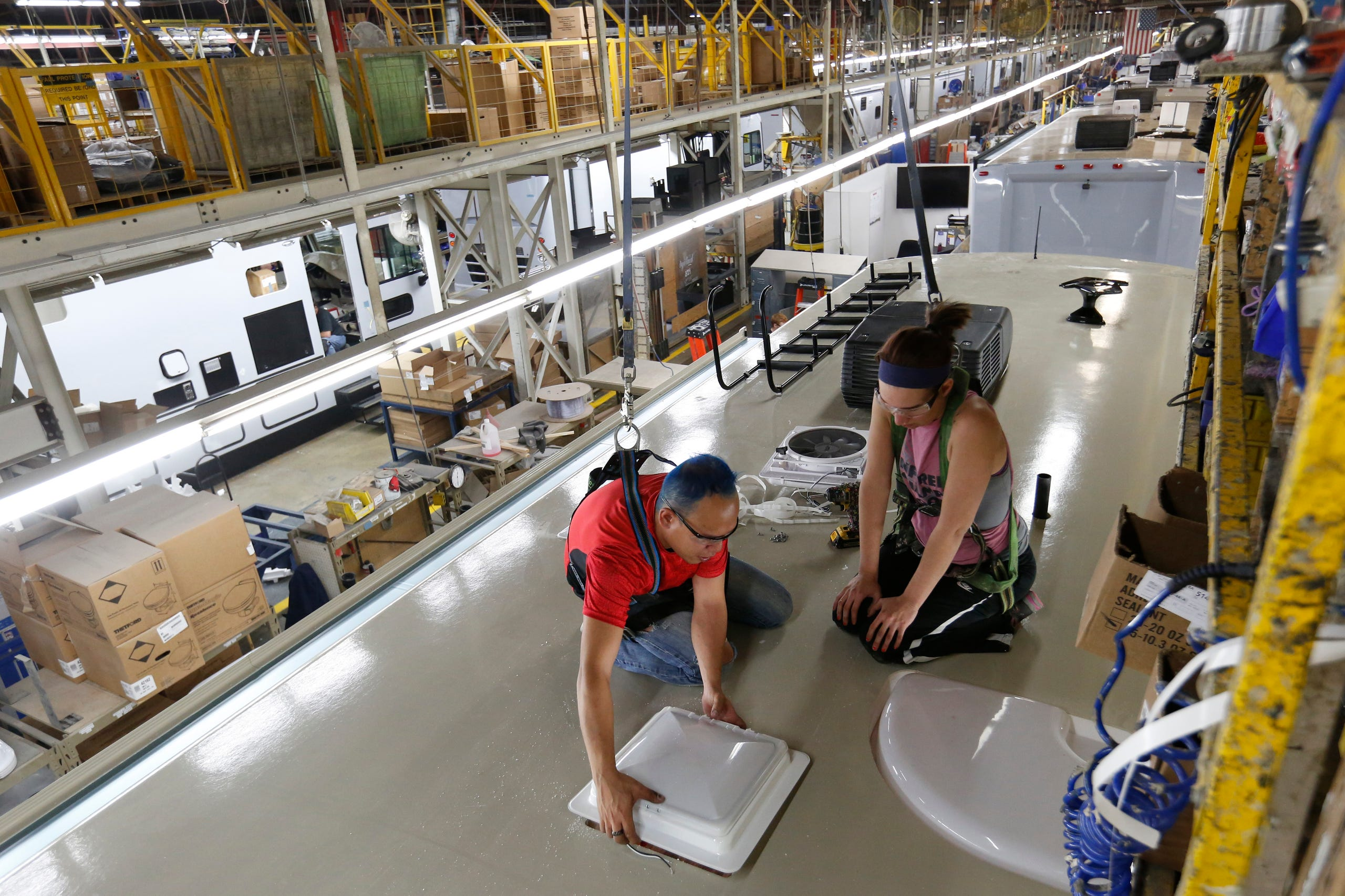 Look inside Winnebago's manufacturing plant in Forest City