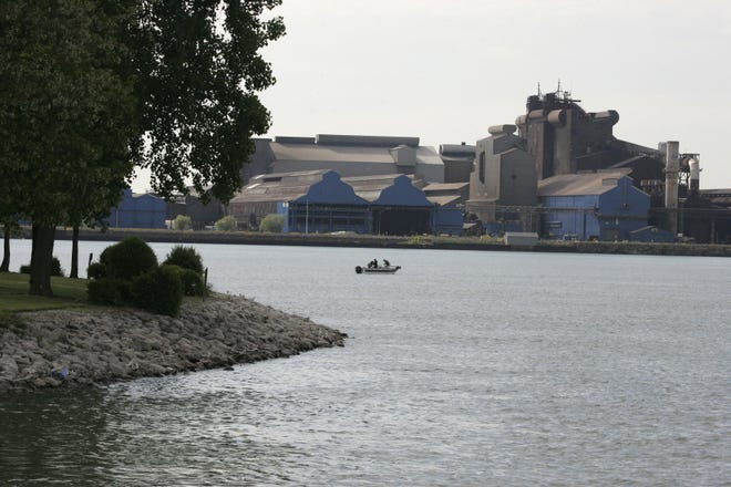 U.S. Steel plant on Zug Island.