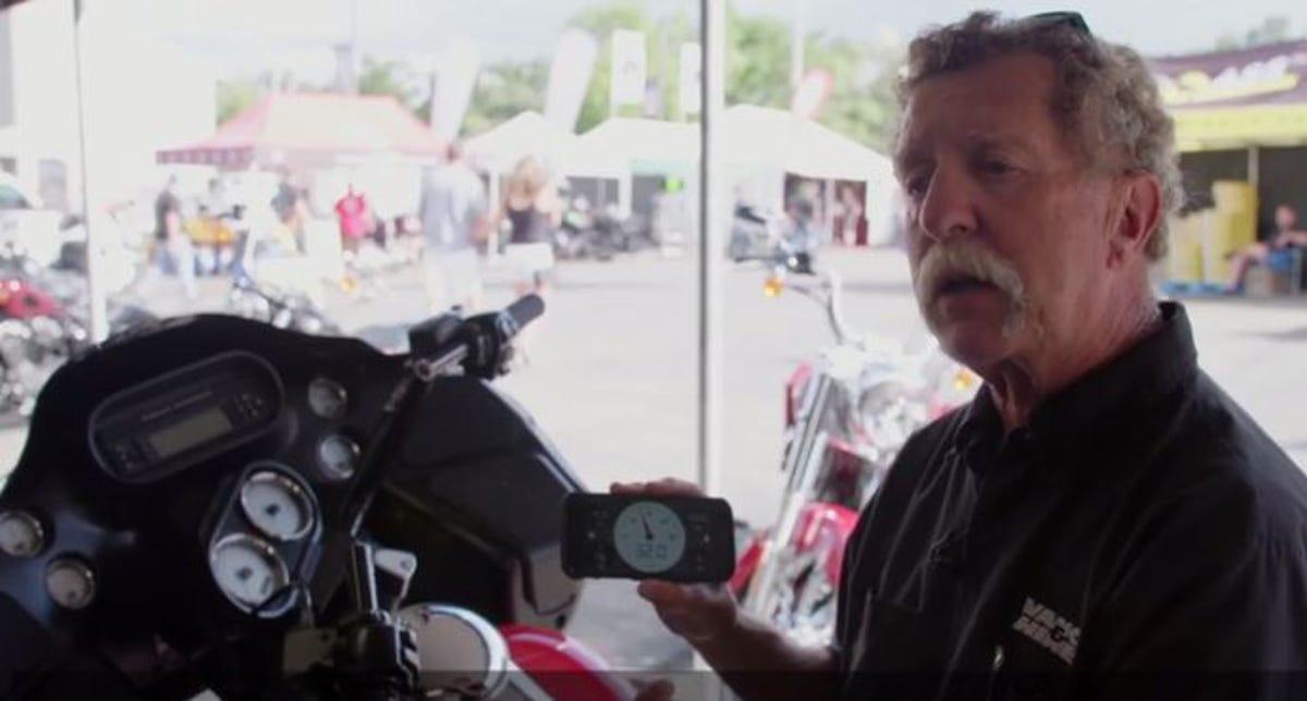 Motorcycle black box lets riders monitor vital info