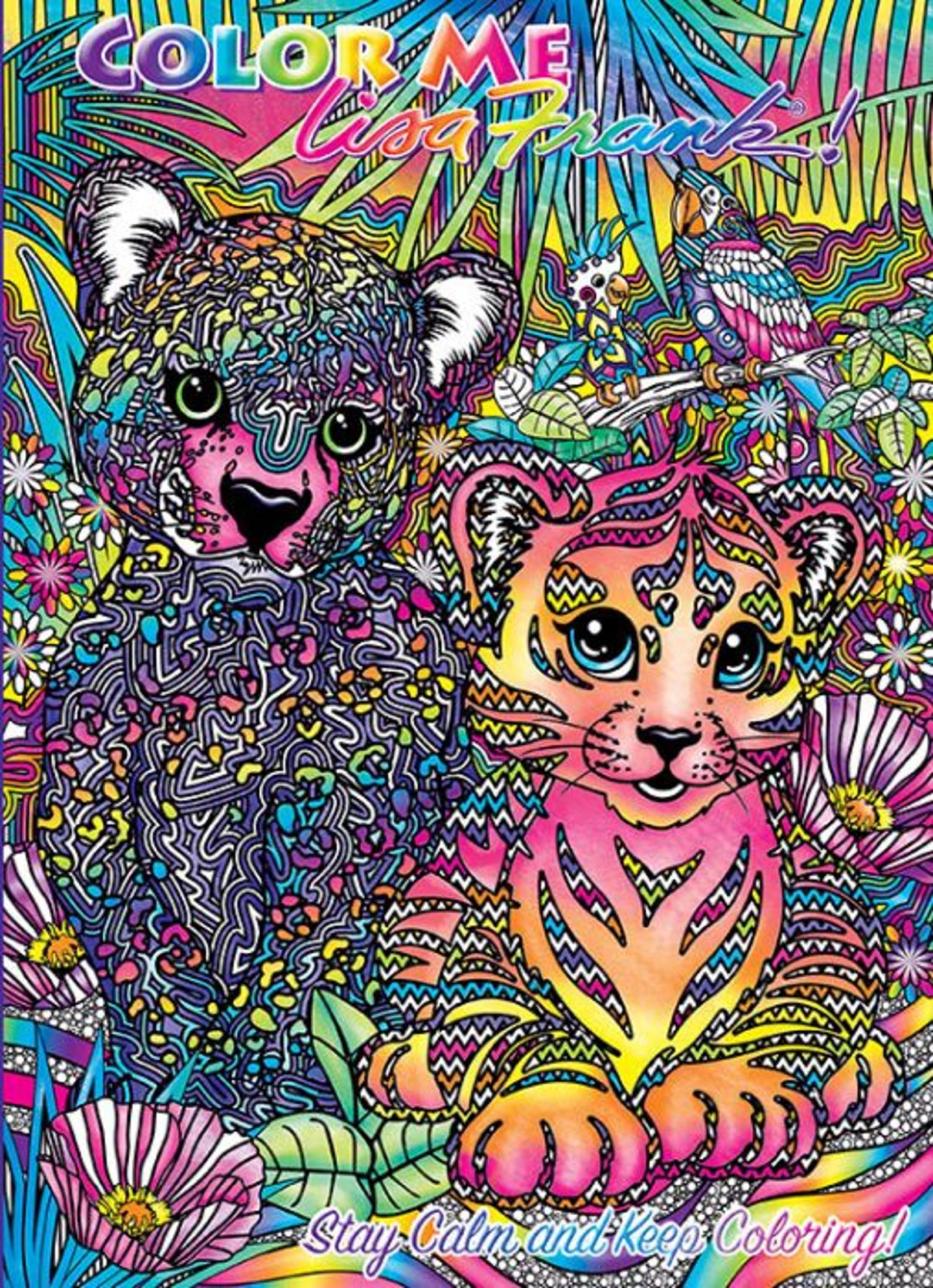 Amazon.com: Lisa Frank Coloring and Activity Book Set (2 Books ... | 2193x1588
