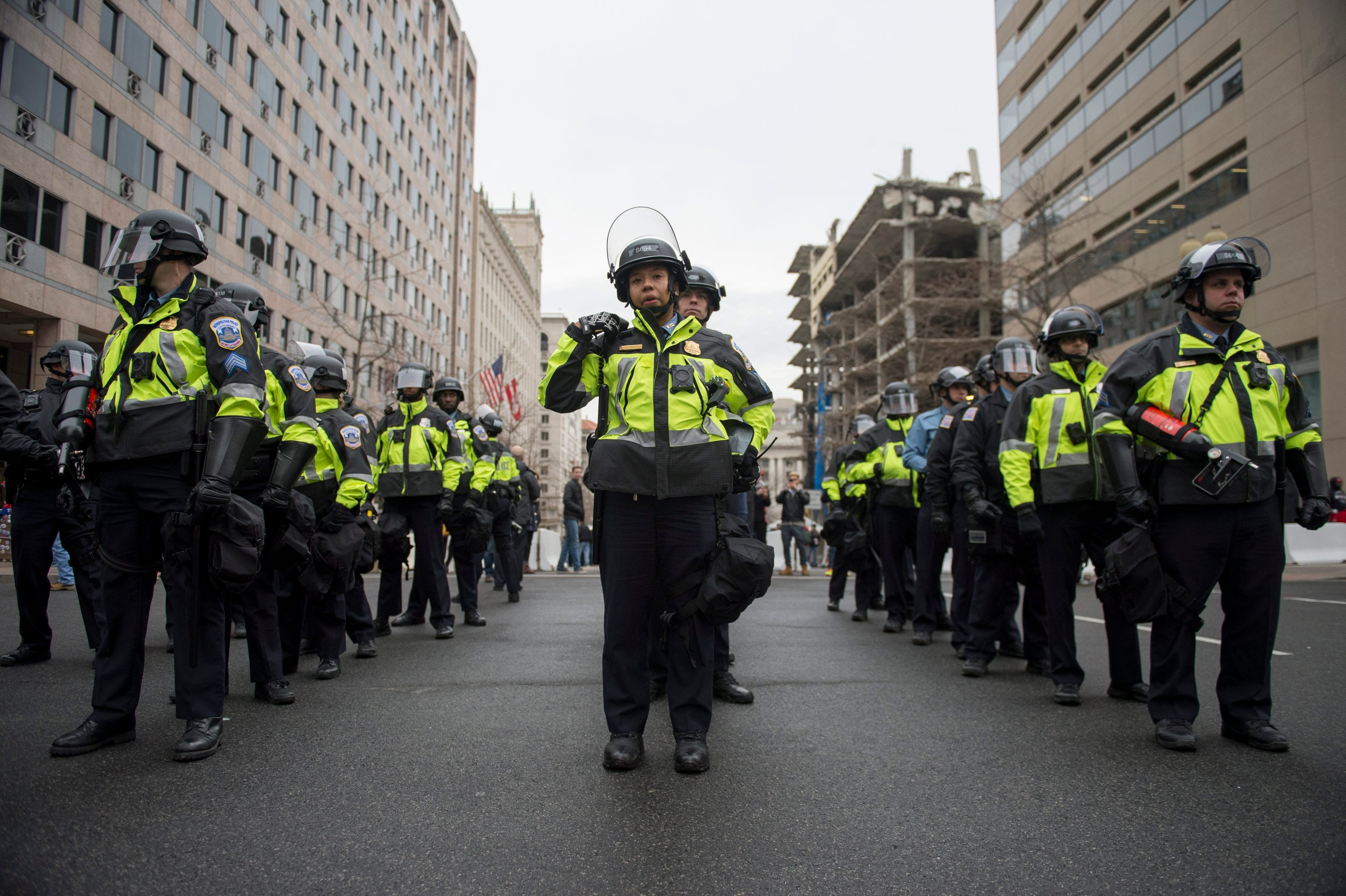 217 arrests, 6 officer injuries during inauguration protests