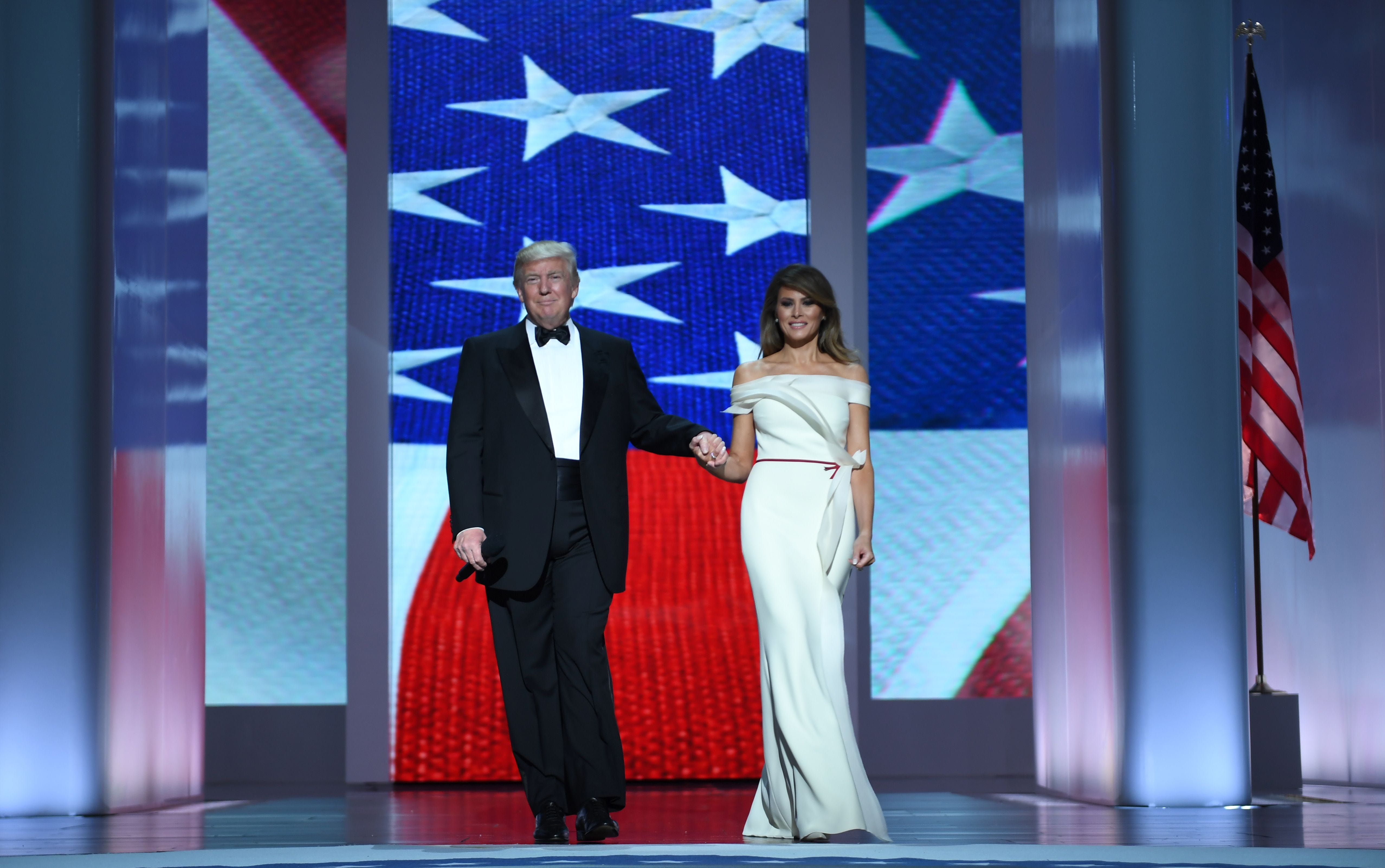 Melania Trump helped design her own inaugural gown
