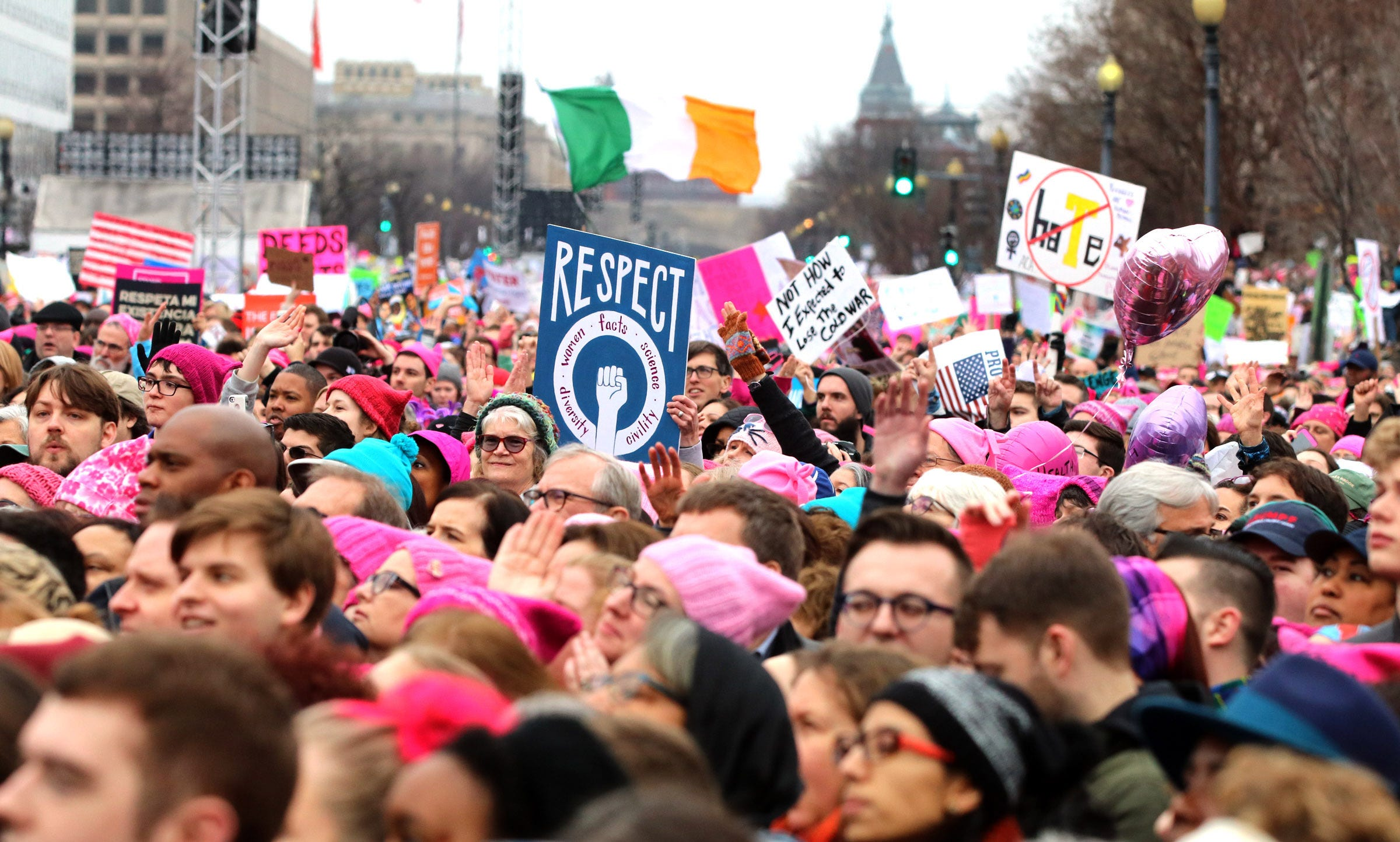More than a million people attend women's marches worldwide