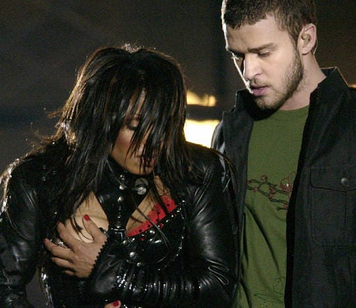 Janet Jackson's famous wardrobe malfunction during Super Bowl XXXVIII in Houston happened the last time Brood X cicadas appeared.