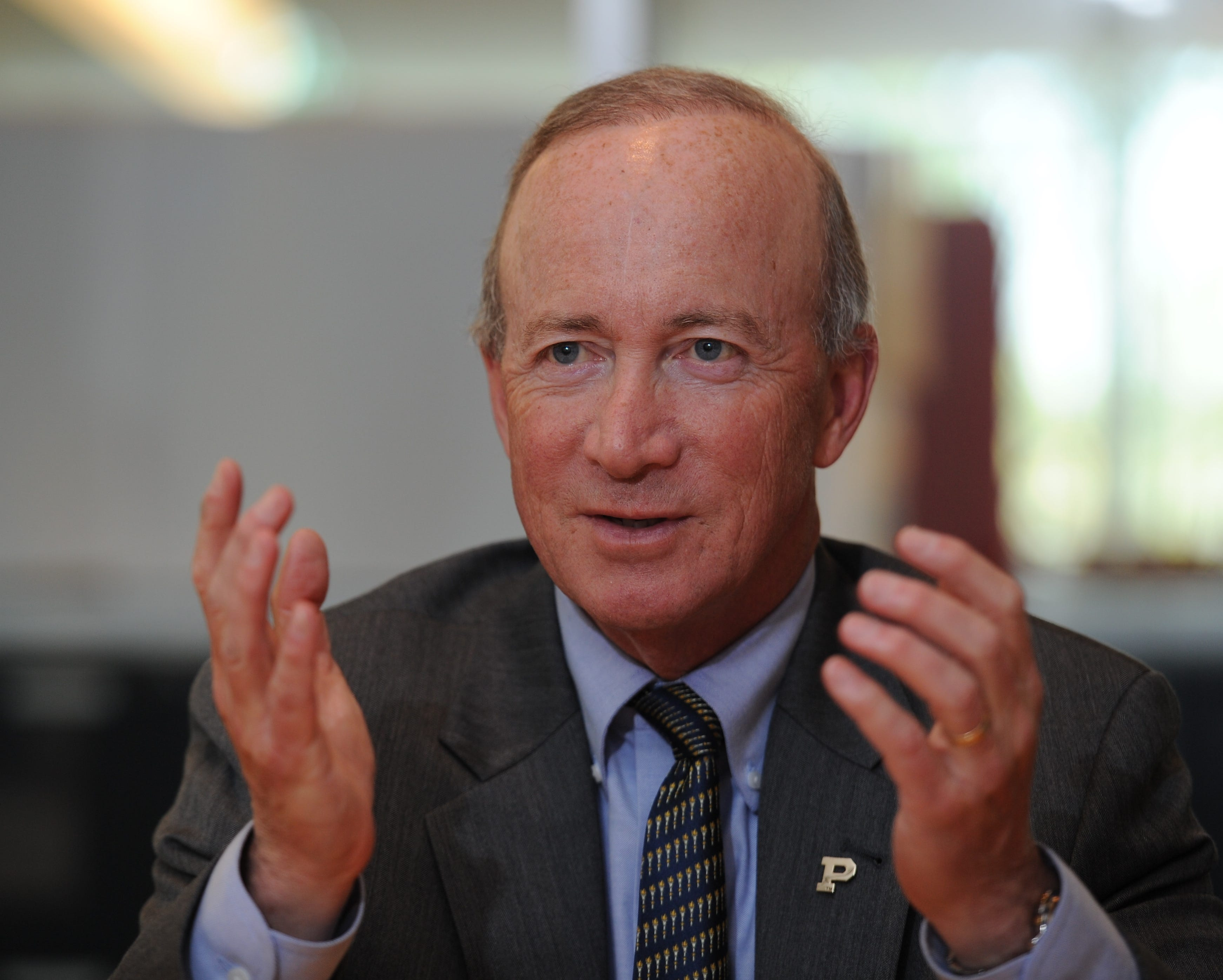 To Mitch Daniels, president of Purdue, in-person college instruction is like a civic duty.