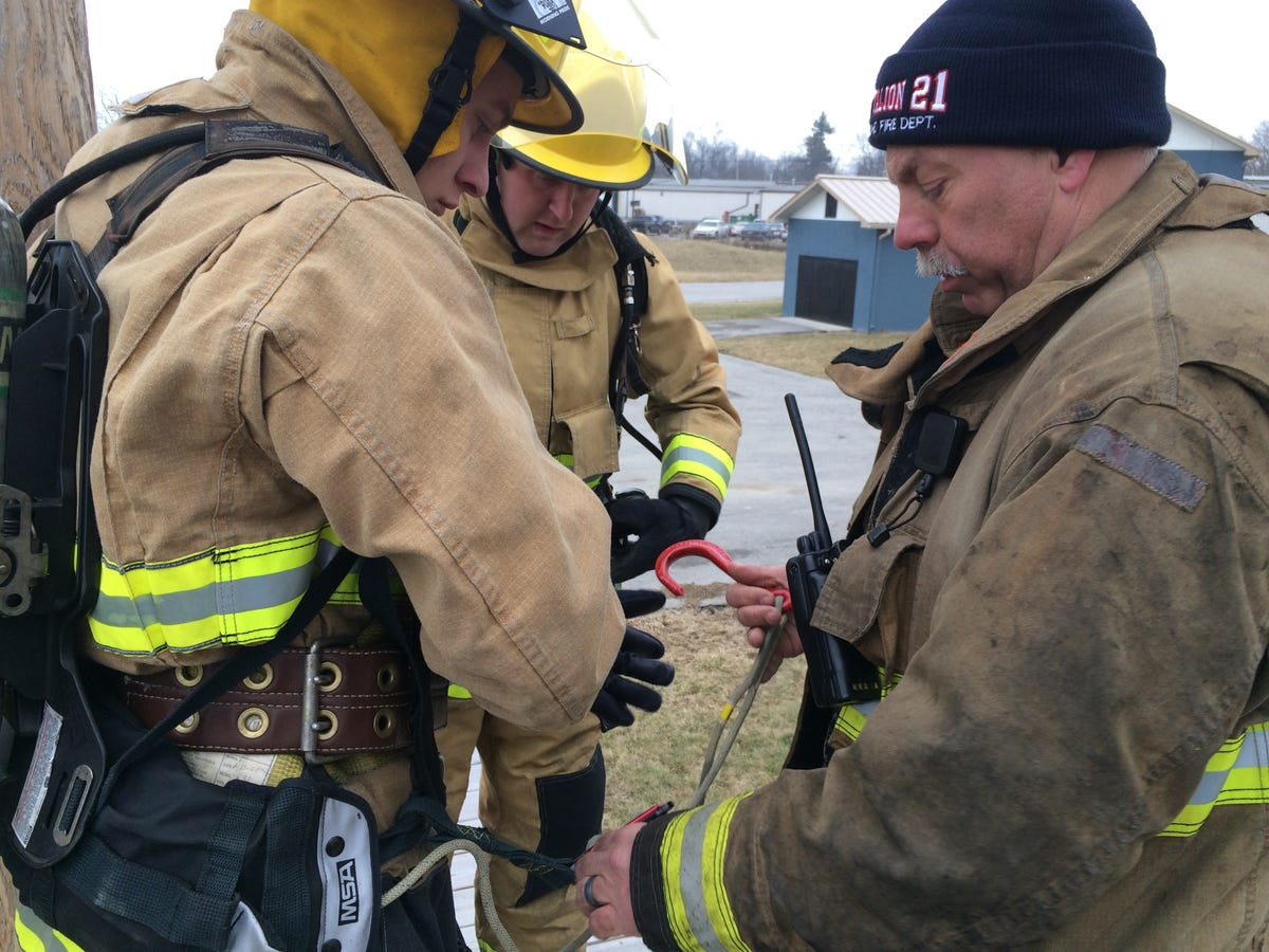 RFD's improved training facility gets a workout