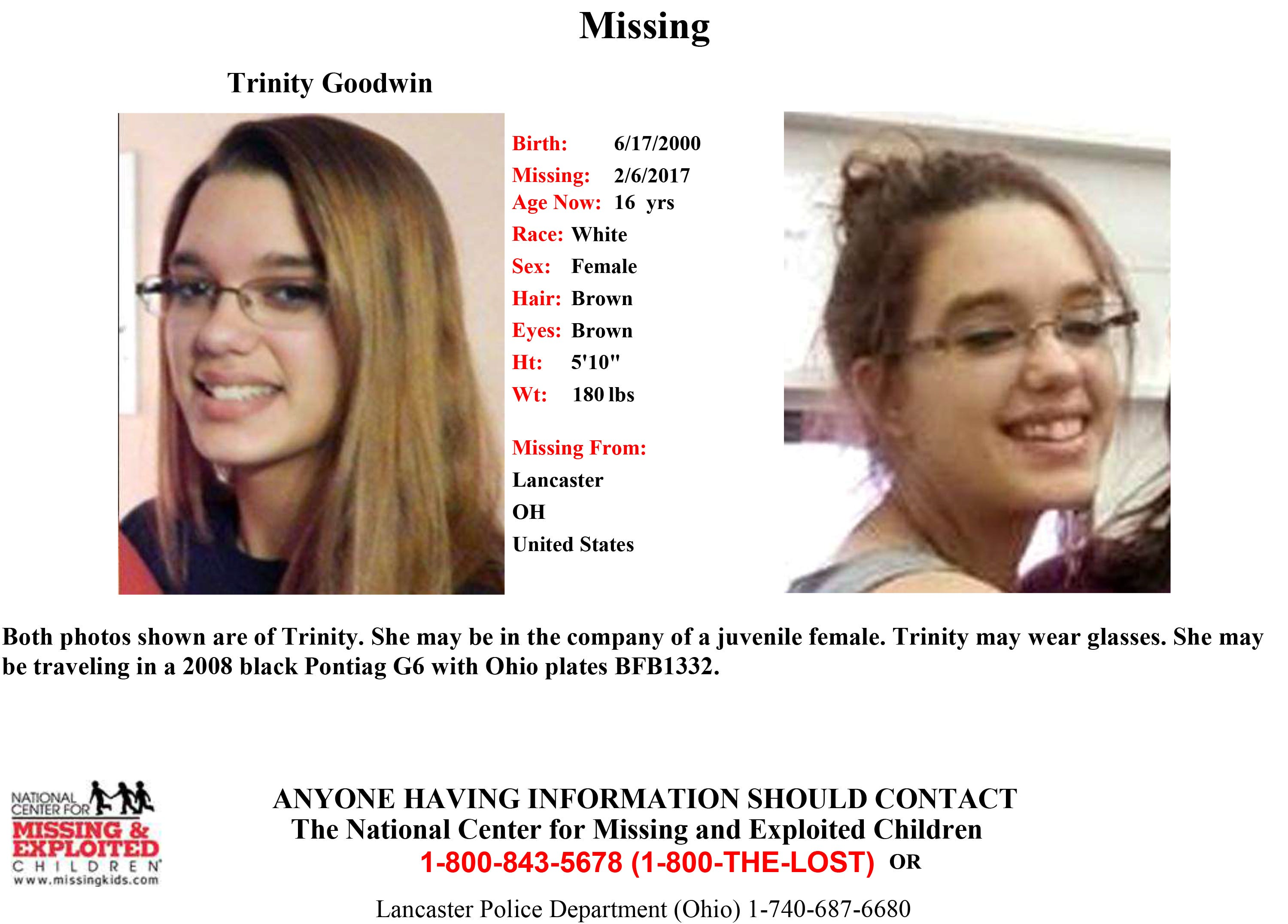 Image result for Trinity Goodwin from ohio