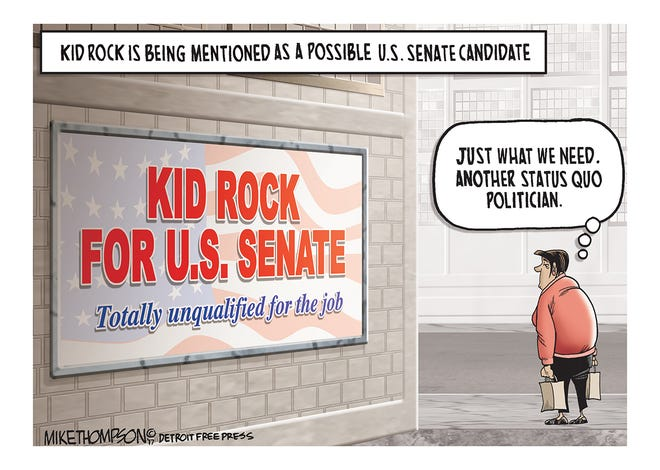 Kid Rock's name has been brought up as a potential U.S. Senate candidate.