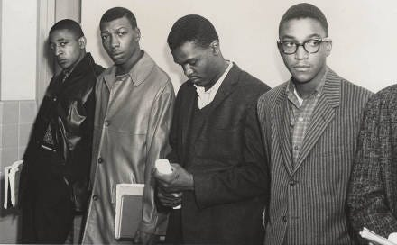 Alabama State students who were expelled for staging a sit-in at the Montgomery County Courthouse. Fred Gray later filed suit on their behalf and won, which established due process rights for students across the country.