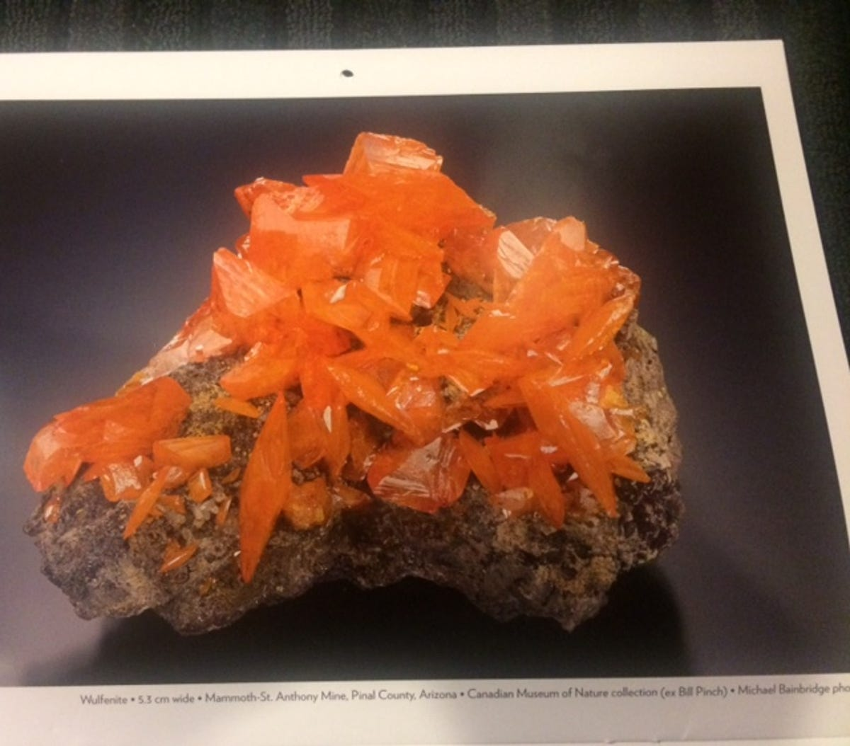 Wulfenite is on track for official Arizona mineral