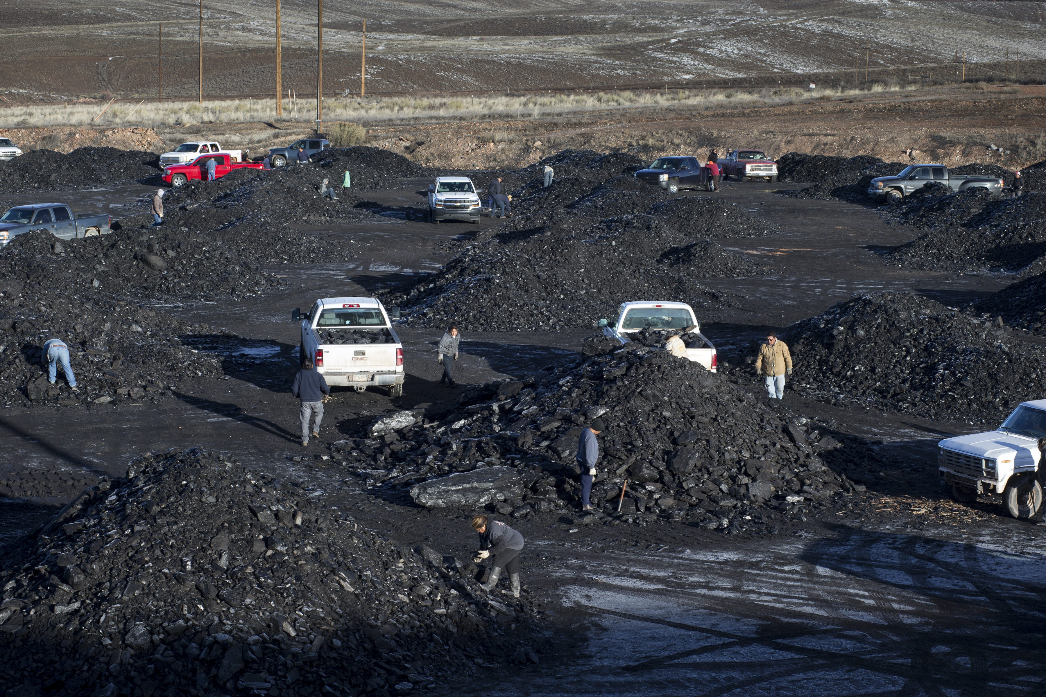 Some people drive hundreds of miles for the free coal