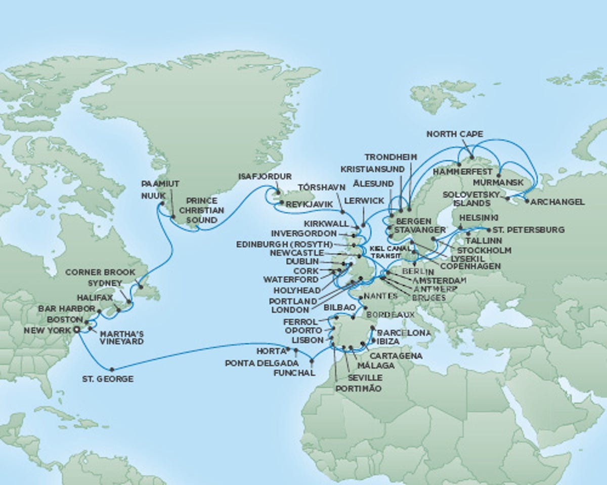 New luxury cruise: New York to Archangel, Russia and back on norway on a map, world map, iraq on a map, sochi on a map, europe on a map, england on a map, japan on a map, india on a map, hong kong on a map, mexico on a map, spain on a map, africa on a map, south east asia on a map, australia on a map, germany on a map, korea bay on a map, bulgaria on a map, belarus on a map, arctic ocean on a map, indian ocean on a map,