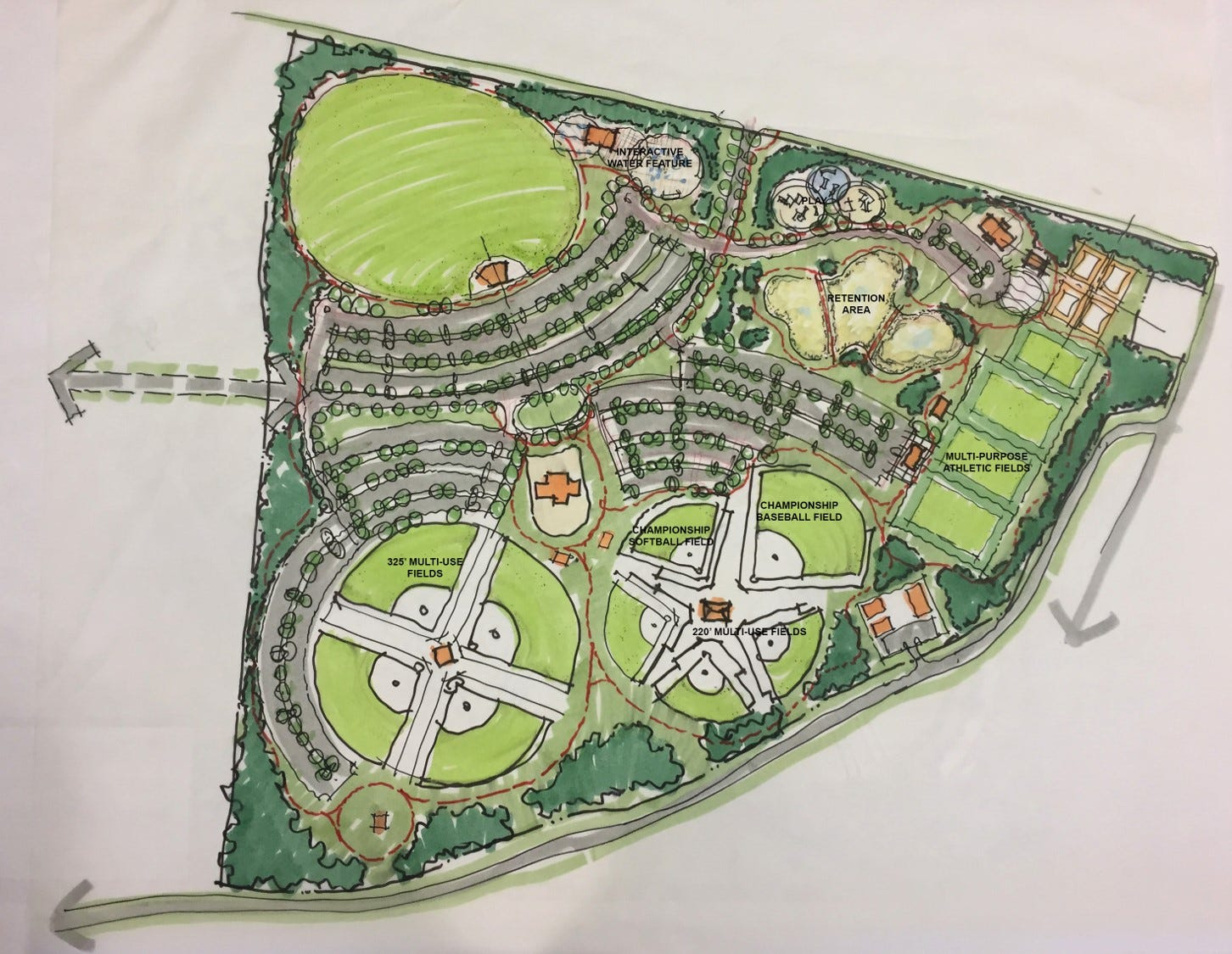 City presented 3 options for west park design this malvernweather Choice Image