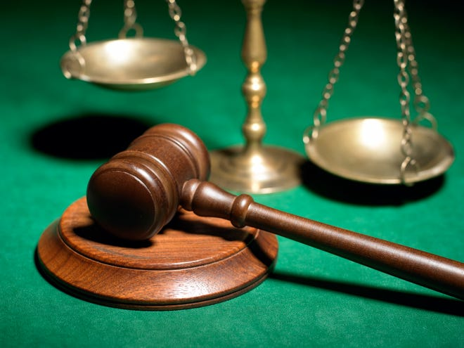Gavel and scales of justice.