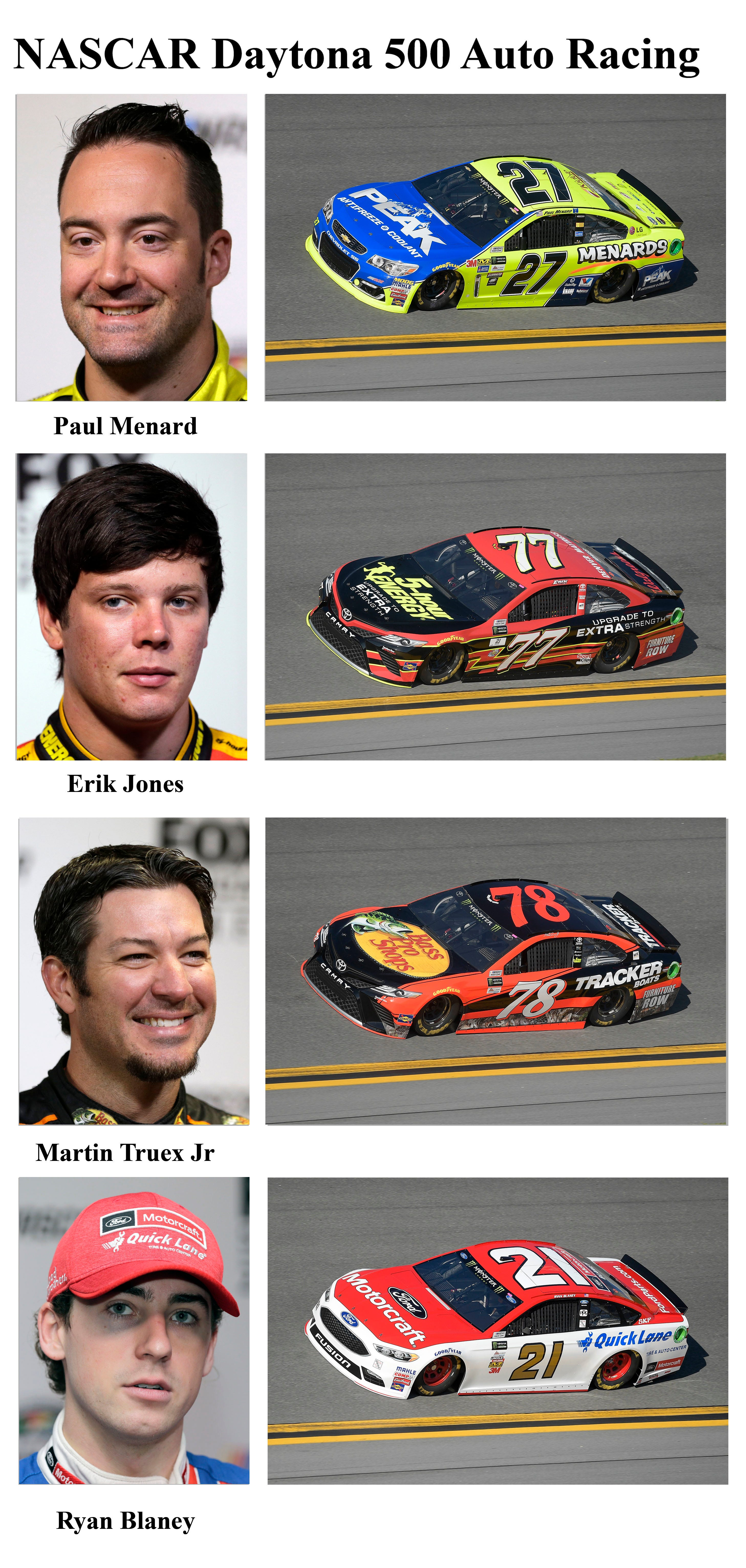 Drivers competing in the 2017 Daytona 500