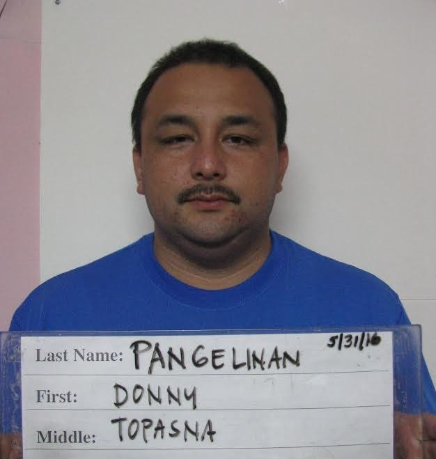 Mugshot of Donny Topasna Pangelinan.