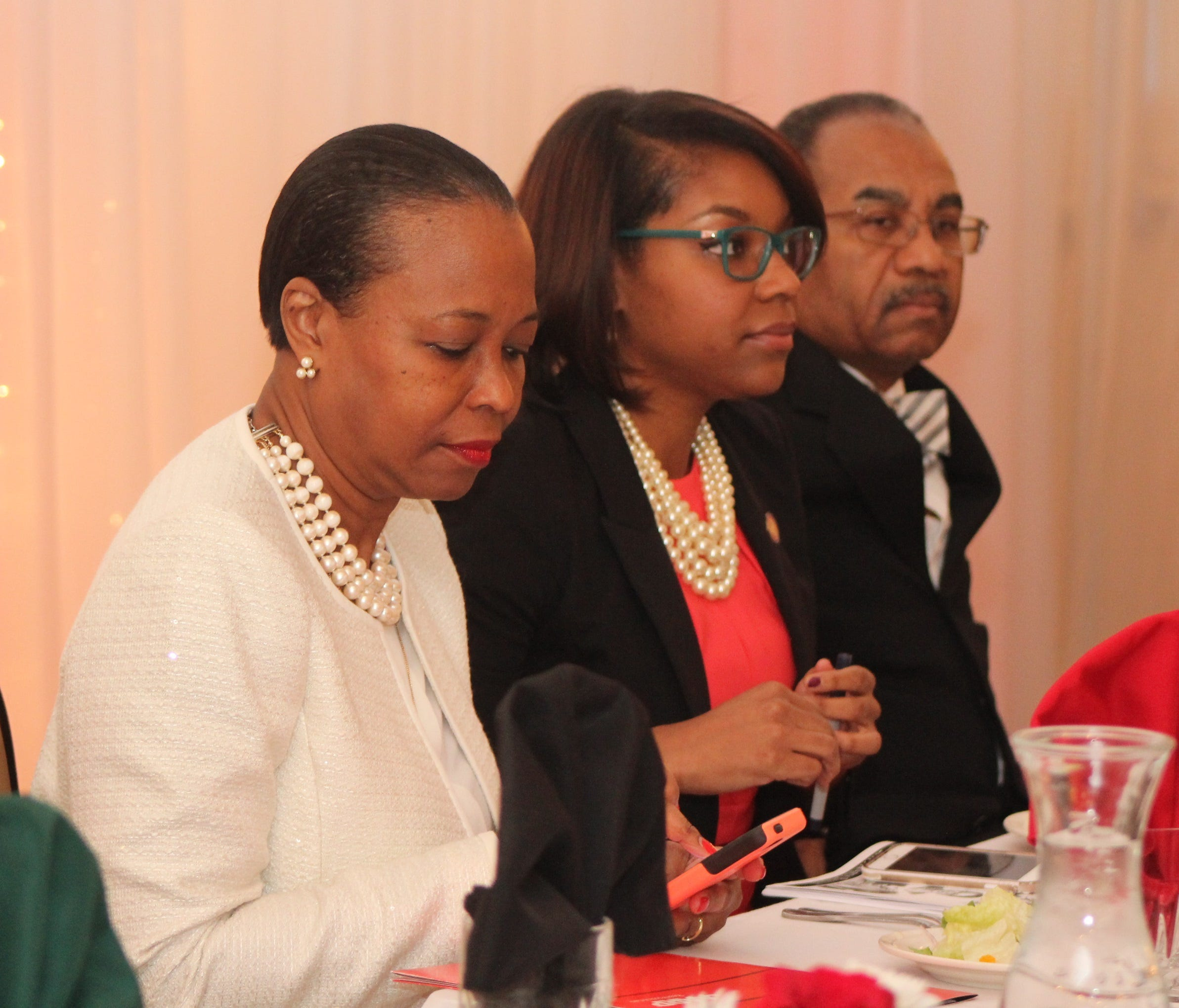 Members of the Sykes family served as co-keynote speakers for the Black Heritage Council banquet: from left, Barbara Sykes, state Rep. Emilia Sykes, D-Akron, and state Sen. Vernon Sykes, D-Akron.